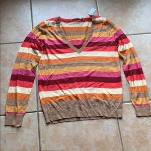 3/$30 The Limited Striped Merino Sweater Large